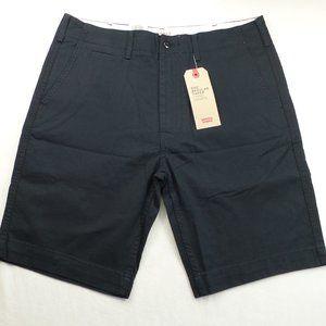 Levis 502 Men's Chino Shorts 33 36 Black Cotton
